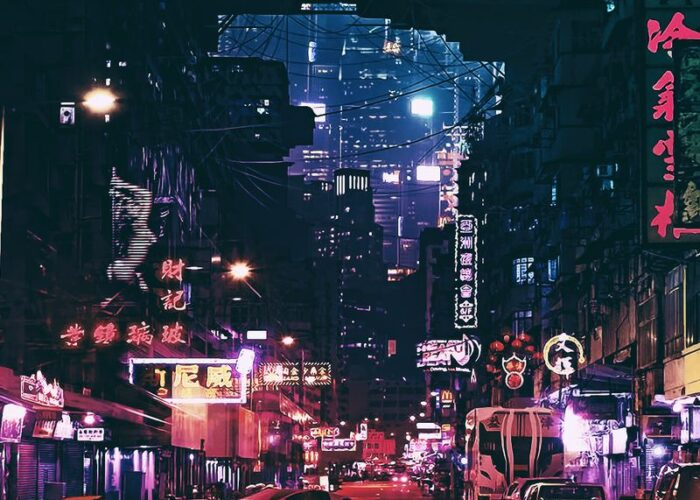 Cyberpunk night city wallpaper