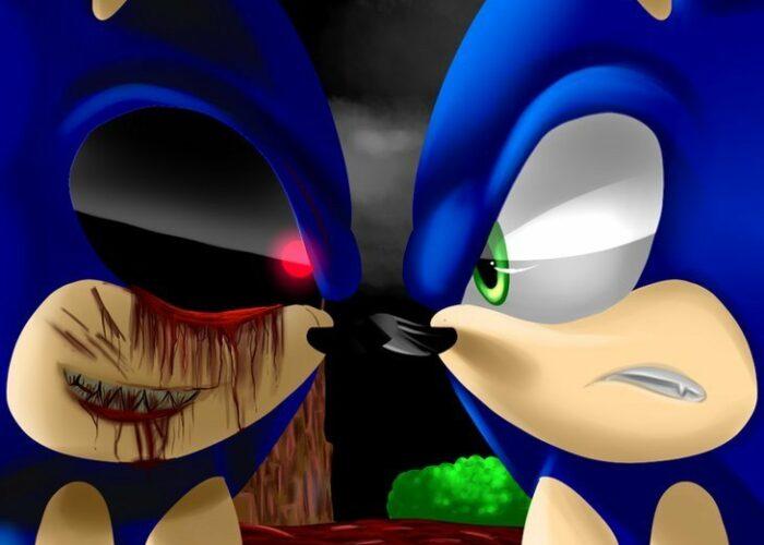 Sonic vs sonic exe wallpaper